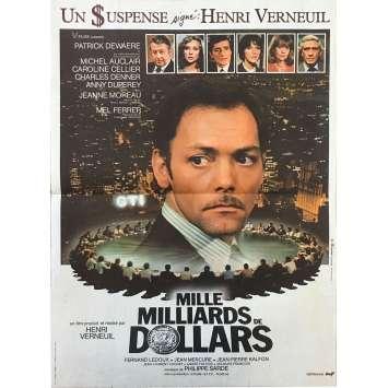 MILLE MILLIARDS DE DOLLARS Affiche de film - 40x60 cm. - 1982 - Patrick Dewaere, Henri Verneuil