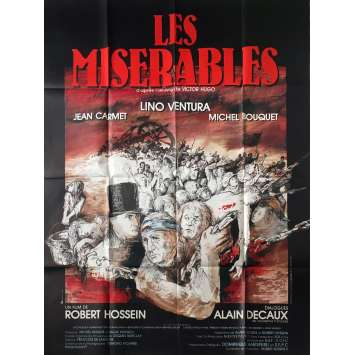LES MISERABLES Original Movie Poster - 47x63 in. - 1982 - Robert Hossein, Lino Ventura