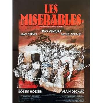 LES MISERABLES Affiche de film - 40x60 cm. - 1982 - Lino Ventura, Robert Hossein