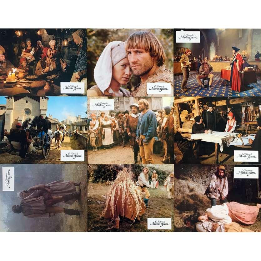 THE RETURN OF MARTIN GUERRE Original Lobby Cards x9 - 9x12 in. - 1982 - Daniel Vigne, Gérard Depardieu