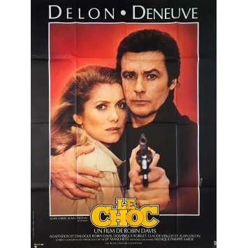 LE CHOC Affiche de film - 120x160 cm. - 1982 - Alain Delon, Catherine Deneuve, Robin Davis