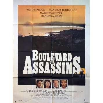 BOULEVARD DES ASSASSINS Affiche de film - 120x160 cm. - 1982 - Jean-Louis Trintignant, Boramy Tioulong