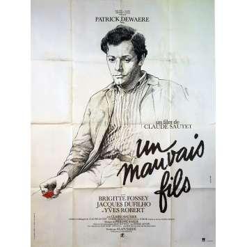 UN MAUVAIS FILS Affiche de film - 120x160 cm. - 1980 - Patrick Dewaere, Claude Sautet