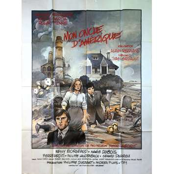 MY AMERICAN UNCLE Original Movie Poster - 47x63 in. - 1980 - Alain Resnais, Gérard Depardieu