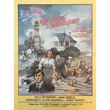 MON ONCLE D'AMERIQUE Affiche de film - 40x60 cm. - 1980 - Gérard Depardieu, Alain Resnais