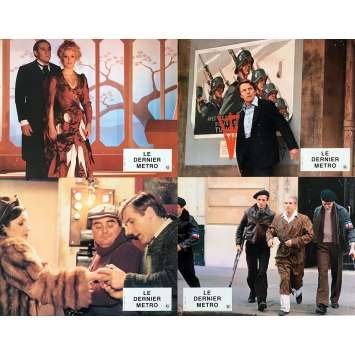 THE LAST METRO Original Lobby Cards x4 - 9x12 in. - 1980 - François Truffaut, Catherine Deneuve