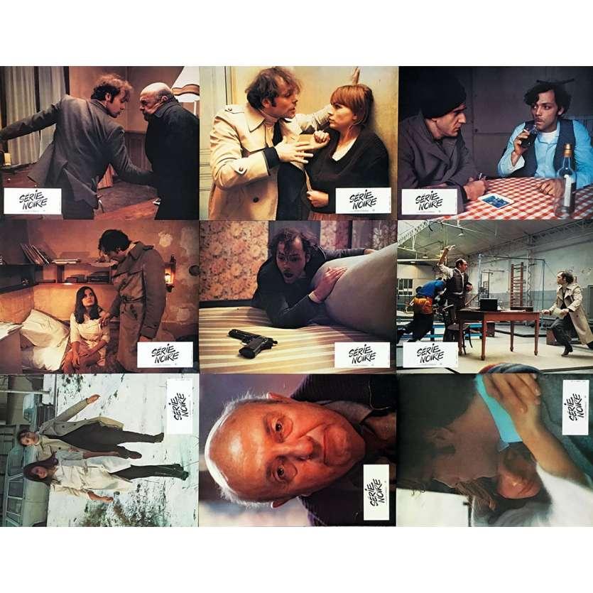 SERIE NOIRE Photos de film x9 - 21x30 cm. - 1979 - Patrick Dewaere, Alain Corneau