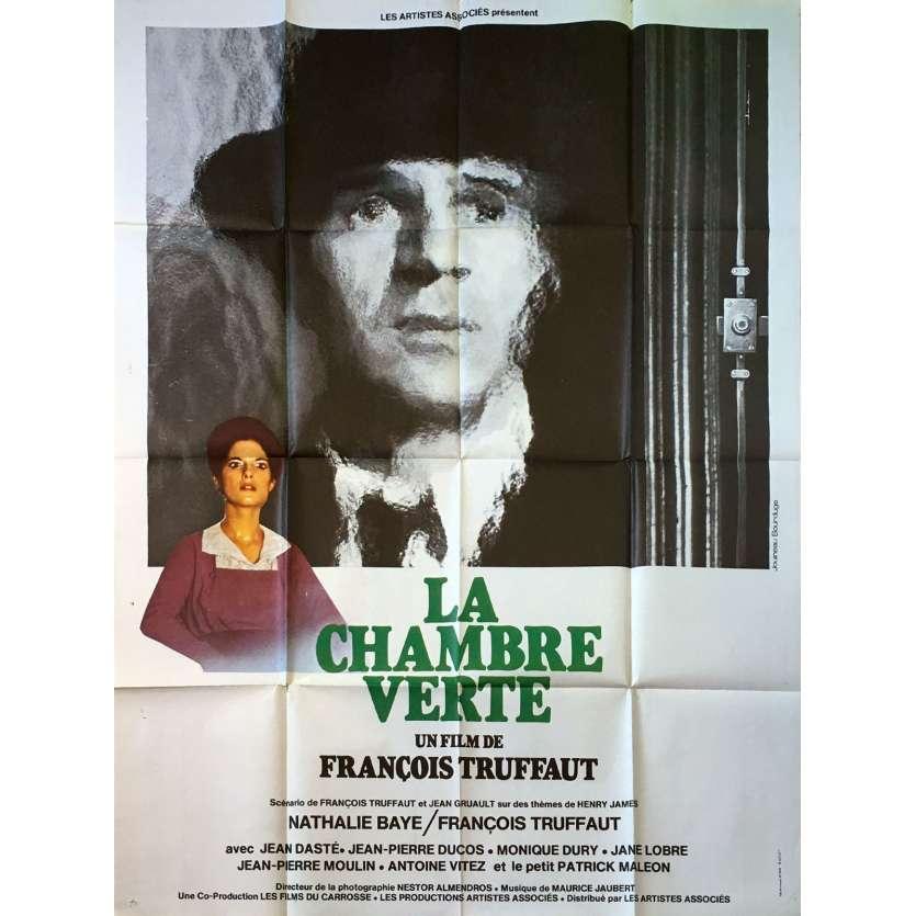 LA CHAMBRE VERTE Affiche de film - 120x160 cm. - 1978 - Nathalie Baye, François Truffaut