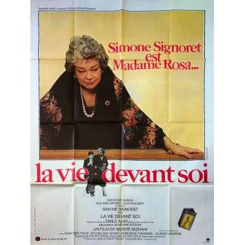 LA VIE DEVANT SOI Affiche de film - 120x160 cm. - 1977 - Simone Signoret, Moshé Mizrahi