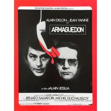 ARMAGUEDON Synopsis - 21x30 cm. - 1977 - Alain Delon, Alain Jessua