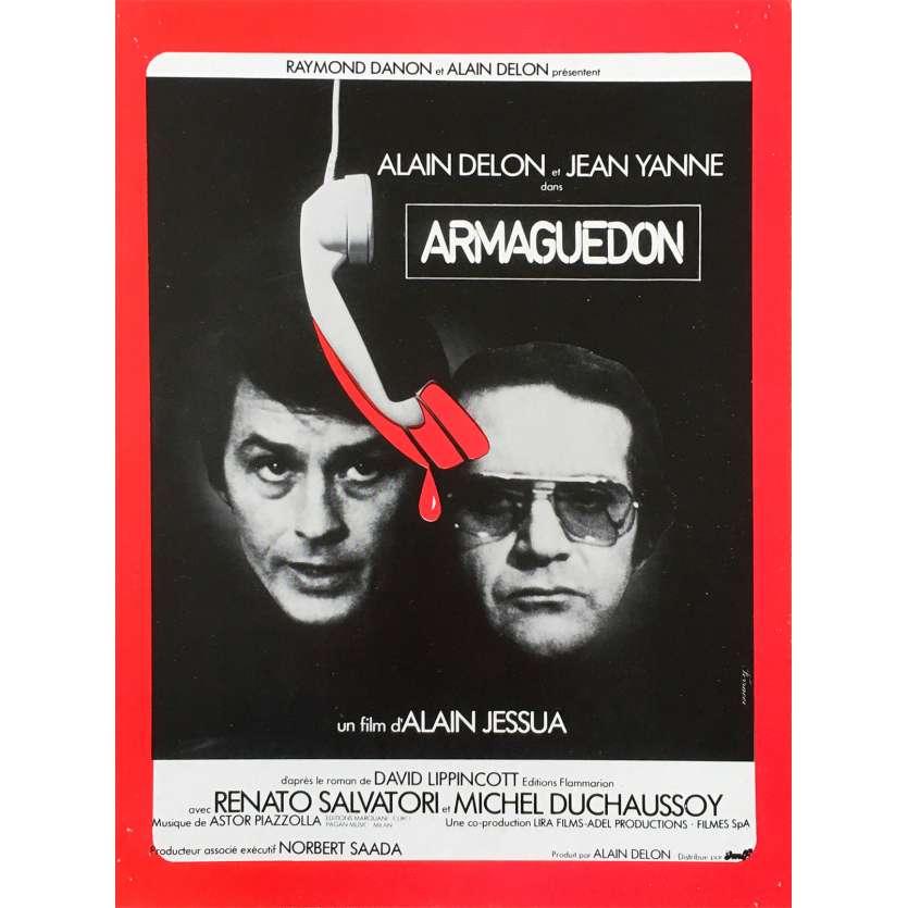 ARMAGUEDDON Original Herald - 9x12 in. - 1977 - Alain Jessua, Alain Delon
