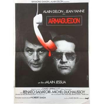 ARMAGUEDON Affiche de film - 40x60 cm. - 1977 - Alain Delon, Alain Jessua
