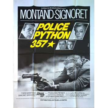POLICE PYTHON 357 Original Movie Poster - 47x63 in. - 1976 - Alain Corneau, Yves Montand
