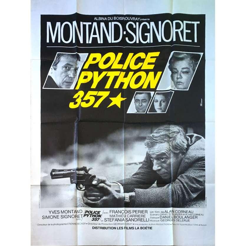 POLICE PYTHON 357 Affiche de film - 120x160 cm. - 1976 - Yves Montand, Alain Corneau