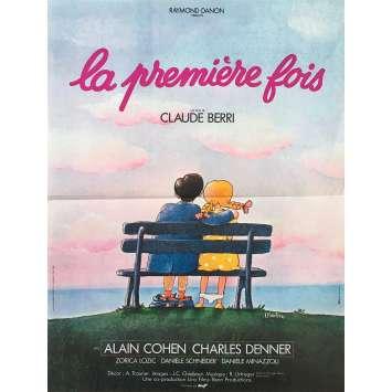 LA PREMIERE FOIS Affiche de film - 40x60 cm. - 1976 - Alain Cohen, Claude Berri