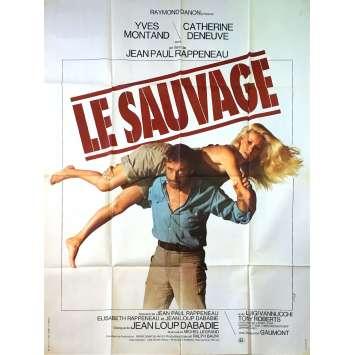 LE SAUVAGE Affiche de film - 120x160 cm. - 1975 - Yves Montand, Jean-Paul Rappeneau