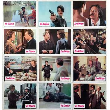 THE GIPSY Original Lobby Cards x14 - 9x12 in. - 1975 - José Giovanni, Alain Delon