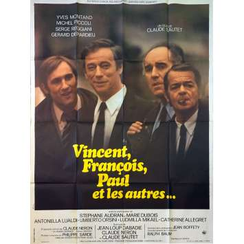 VINCENT FRANÇOIS PAUL AND THE OTHERS Original Movie Poster - 47x63 in. - 1974 - Claude Sautet, Yves Montand