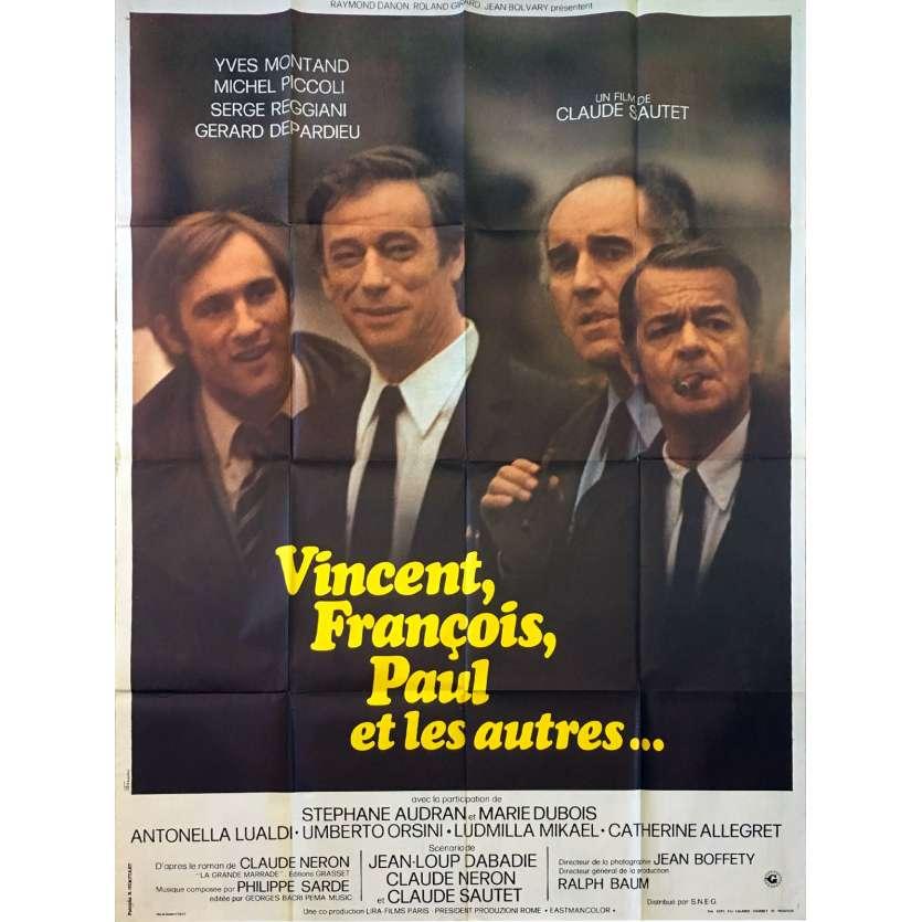 VINCENT FRANÇOIS PAUL ET LES AUTRES Affiche de film - 120x160 cm. - 1974 - Yves Montand, Claude Sautet