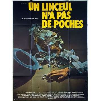 NO POCKETS IN A SHROUD Original Movie Poster - 47x63 in. - 1974 - Jean-Pierre Mocky, Jean Carmet