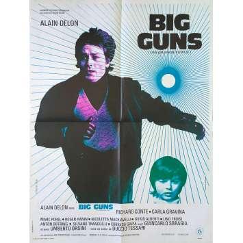 BIG GUNS - LES GRANDS FUSILS Affiche de film - 60x80 cm. - 1973 - Alain Delon, Duccio Tessari