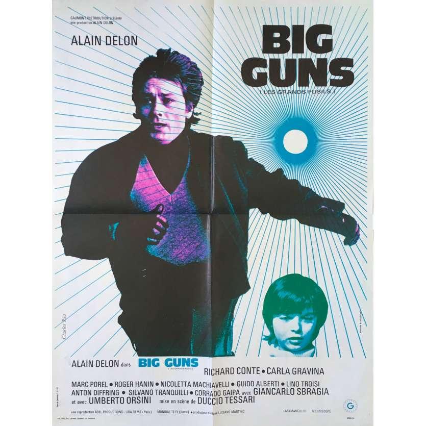 BIG GUNS Original Movie Poster - 23x32 in. - 1973 - Duccio Tessari, Alain Delon