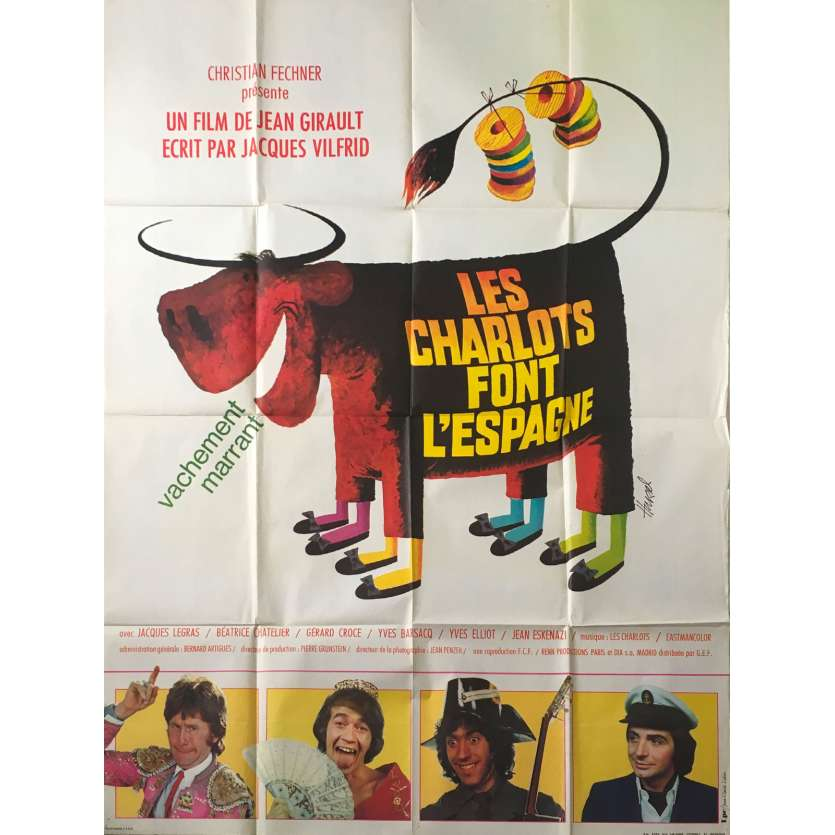 LES CHARLOTS FONT L'ESPAGNE Affiche de film - 120x160 cm. - 1972 - Jean-Guy Fechner, Jean Girault