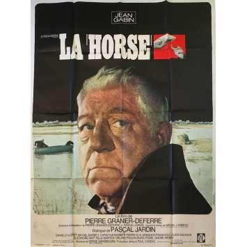 LA HORSE Affiche de film - 120x160 cm. - 1970 - Jean Gabin, Pierre Granier-Deferre