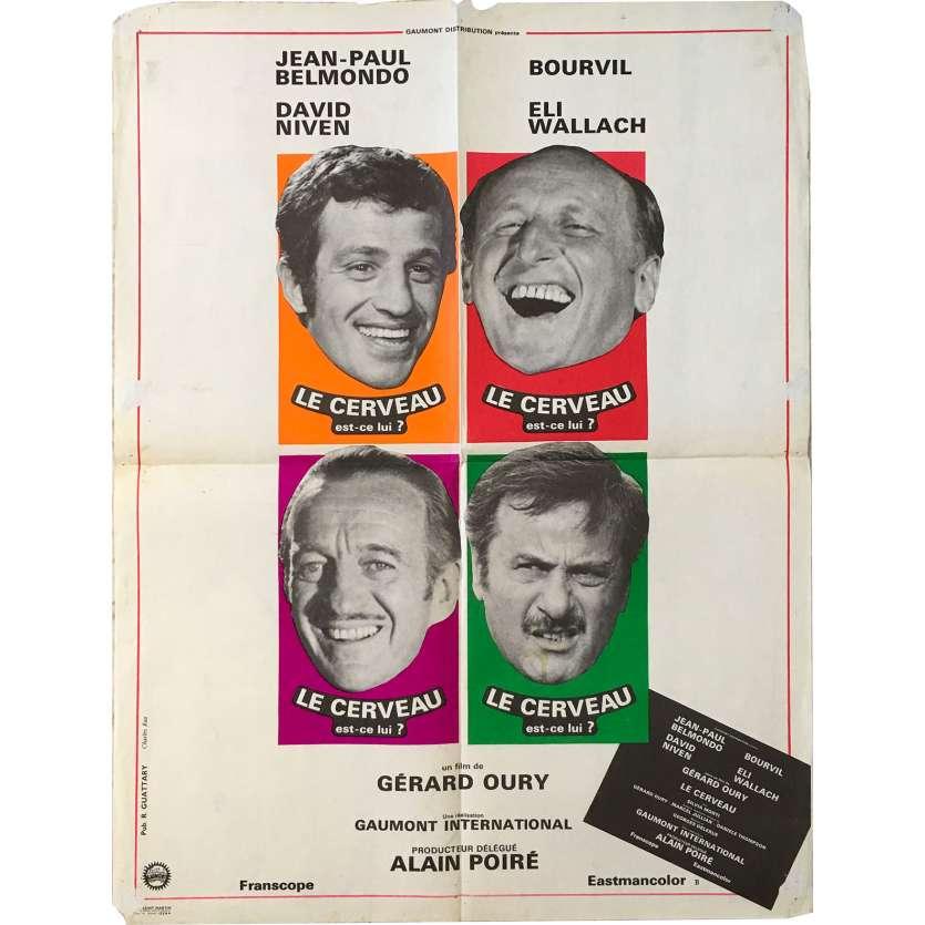 LE CERVEAU Affiche de film - 60x80 cm. - 1969 - Jean-Paul Belmondo, Gérard Oury