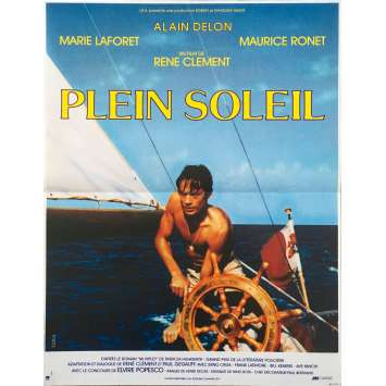 PURPLE NOON Original Movie Poster - 15x21 in. - R1980 - René Clément, Alain Delon
