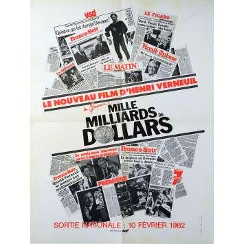 MILLE MILLIARDS DE DOLLARS Affiche de film - 60x80 cm. - 1982 - Patrick Dewaere, Henri Verneuil