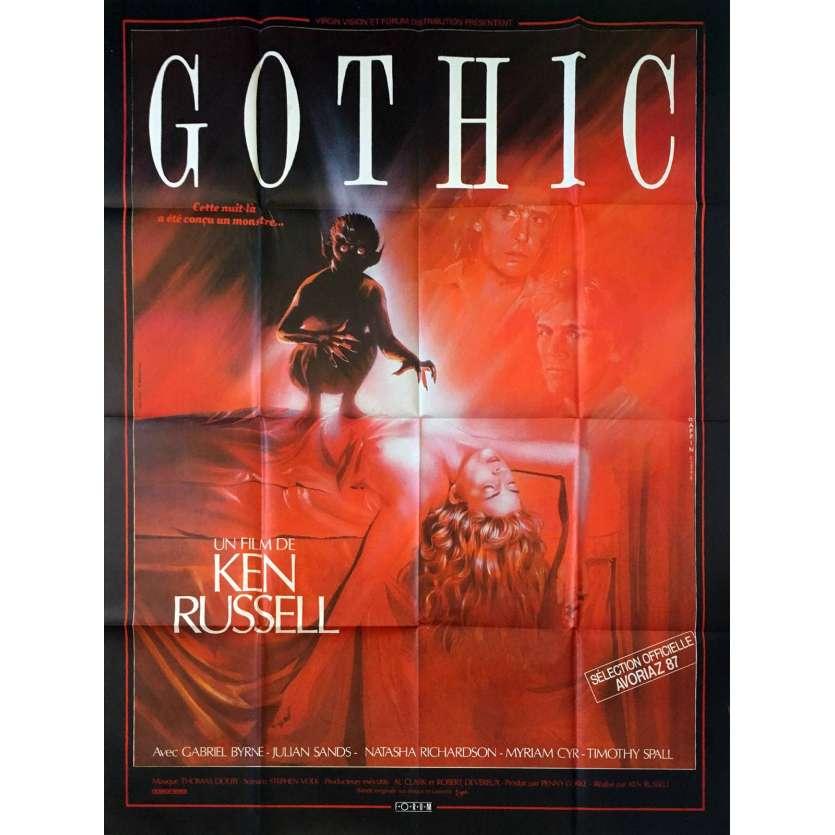 GOTHIC Affiche 120x160 '86 Ken Russel Vintage Poster