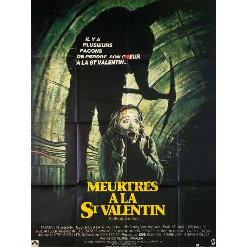 MY BLOODY VALENTINE French Movie Poster 47x63- 1981 - George Mihalka, Paul Kelman