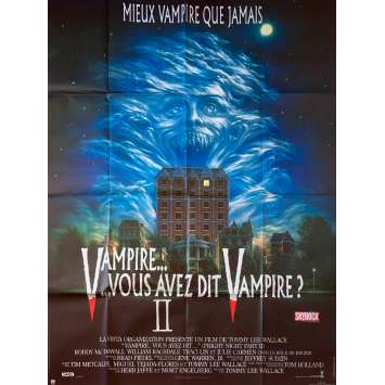FRIGHT NIGHT PART II Movie Poster 47x63 in. French - 1988 - Tommy Lee Wallace, Roddy McDowall