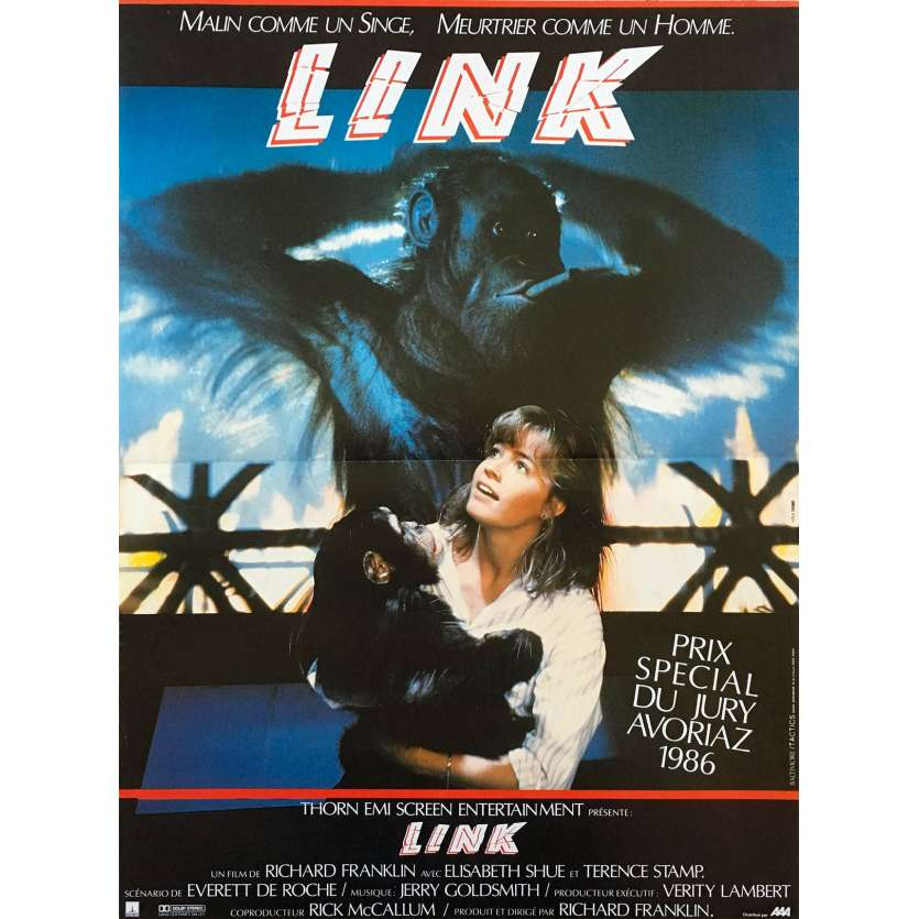 LINK French Movie Poster 15x21 - 1983 - Richard Franklin, Terence Stamp