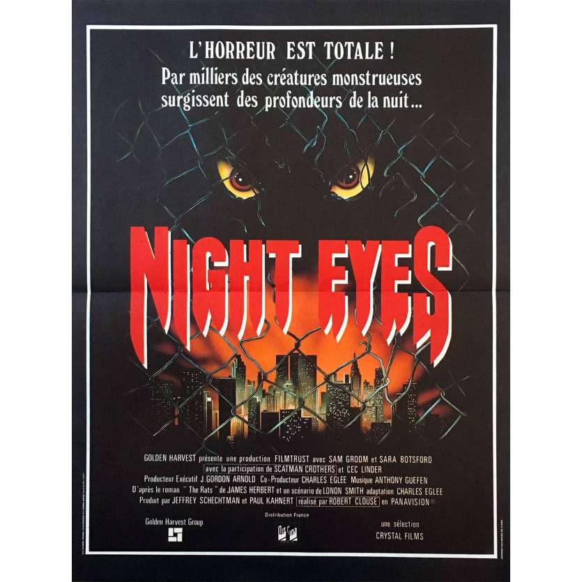 NIGHT EYES Affiche 40x60 FR Robert Clouse, Scatman Crothers