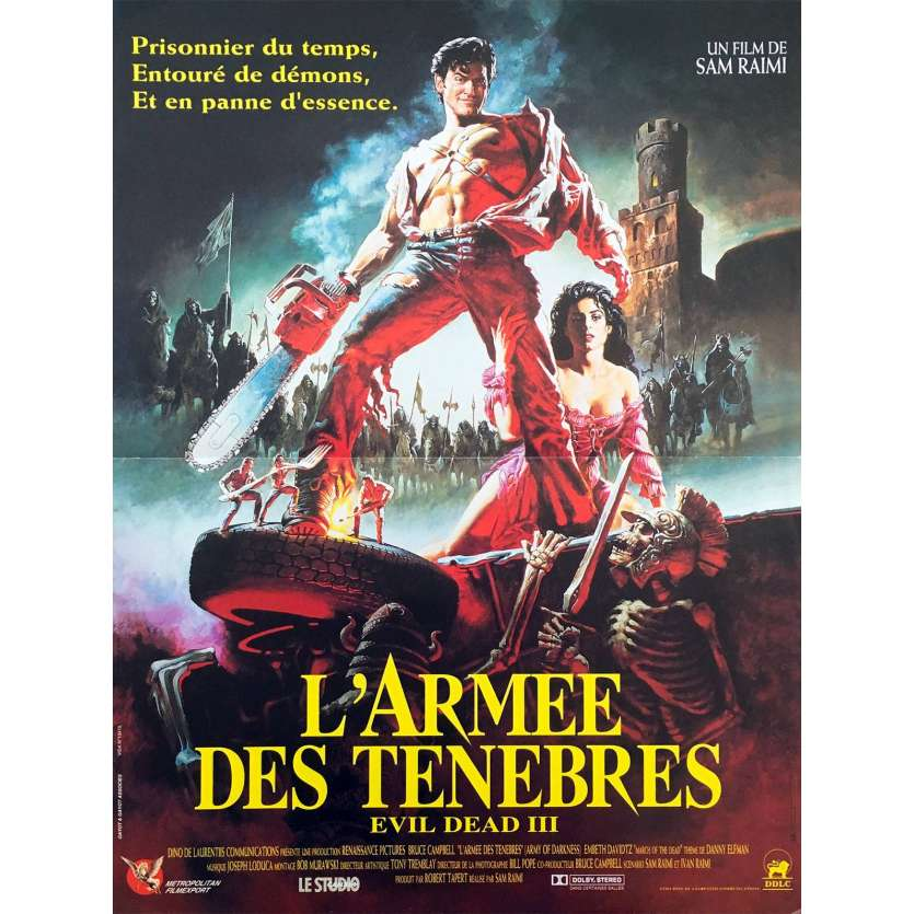 ARMY OF DARKNESS French 1P Movie Poster '92 Sam Raimi 15x21