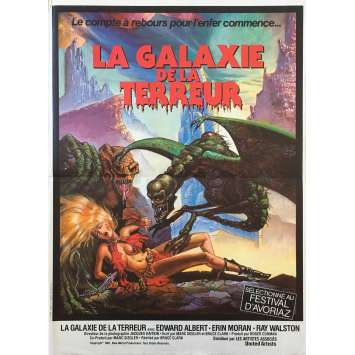 GALAXY OF TERROR Movie Poster 15x21 in. French - 1981 - Roger Corman, Edward Albert