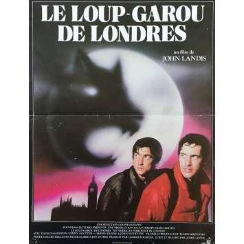 AN AMERICAN WEREWOLF IN LONDON Movie Poster 15x21 in. French - 1981 - John Landis, David Naughton