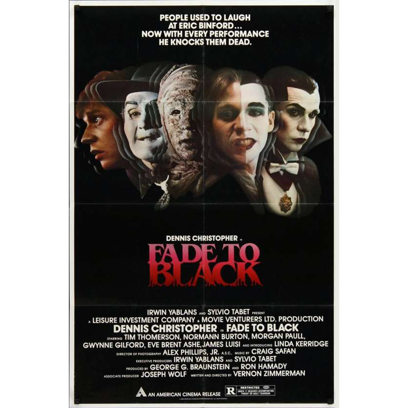 FADE TO BLACK 1sh '80 Dennis Christopher