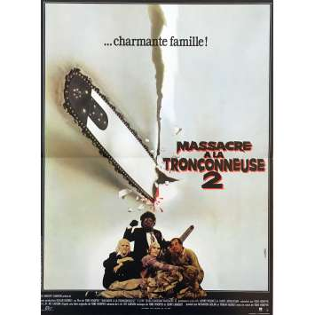 THE TEXAS CHAINSAW MASSACRE 2 Original Movie Poster - 15x21 in. - 1986 - Tobe Hooper, Dennis Hopper