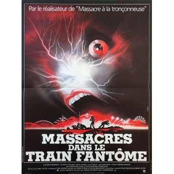 MASSACRES DANS LE TRAIN FANTOME Affiche de film - 40x60 cm. - 1981 - Elisabeth Berridge, Tobe Hooper