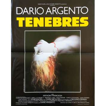 TENEBRE Original Movie Poster - 15x21 in. - 1982 - Dario Argento, John Saxon