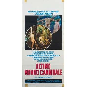 LE DERNIER MONDE CANNIBALE Affiche de film - 33x71 cm. - 1977 - Massimo Foschi, Ruggero Deodato