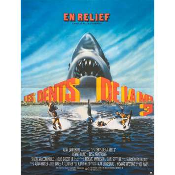 JAWS 3-D Original Movie Poster - 15x21 in. - 1983 - Joe Alves, Dennis Quaid