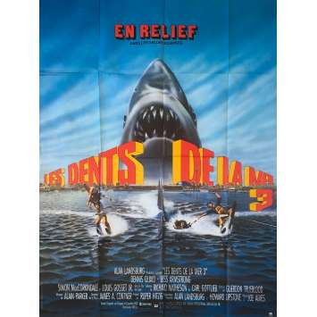 JAWS 3-D Original Movie Poster - 47x63 in. - 1983 - Joe Alves, Dennis Quaid