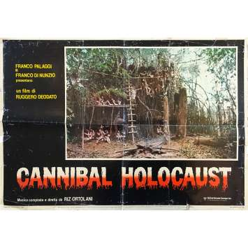 CANNIBAL HOLOCAUST Affiche de film - 46x64 cm. - 1980 - Robert Kerman, Ruggero Deodato