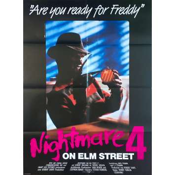 A NIGHMARE ON ELM STREET 4 Original Movie Poster - 33x47 in. - 1988 - Renny Harlin, Robert Englund