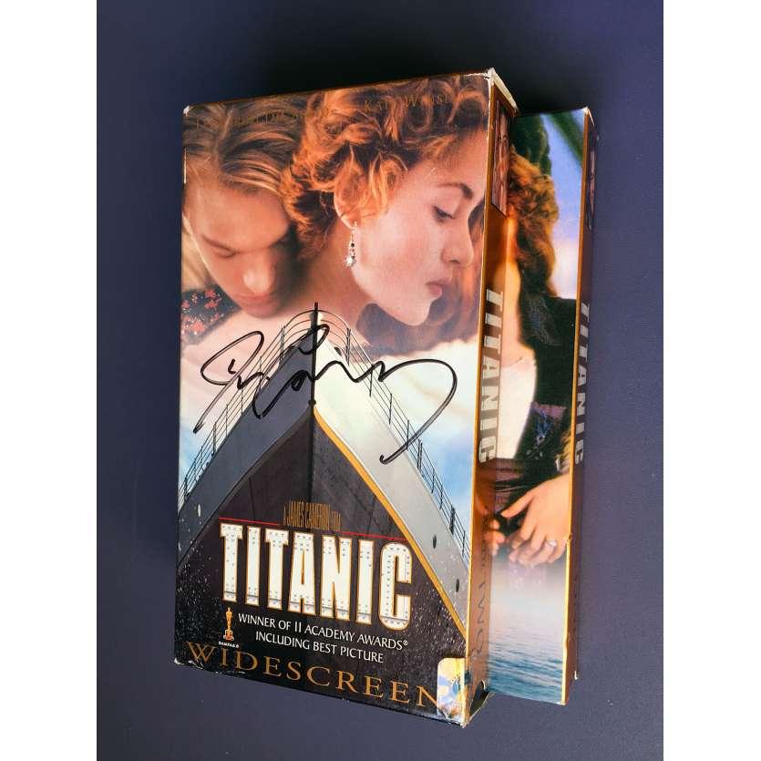 TITANIC Coffret VHS NTSC signé par James Cameron ! 1997