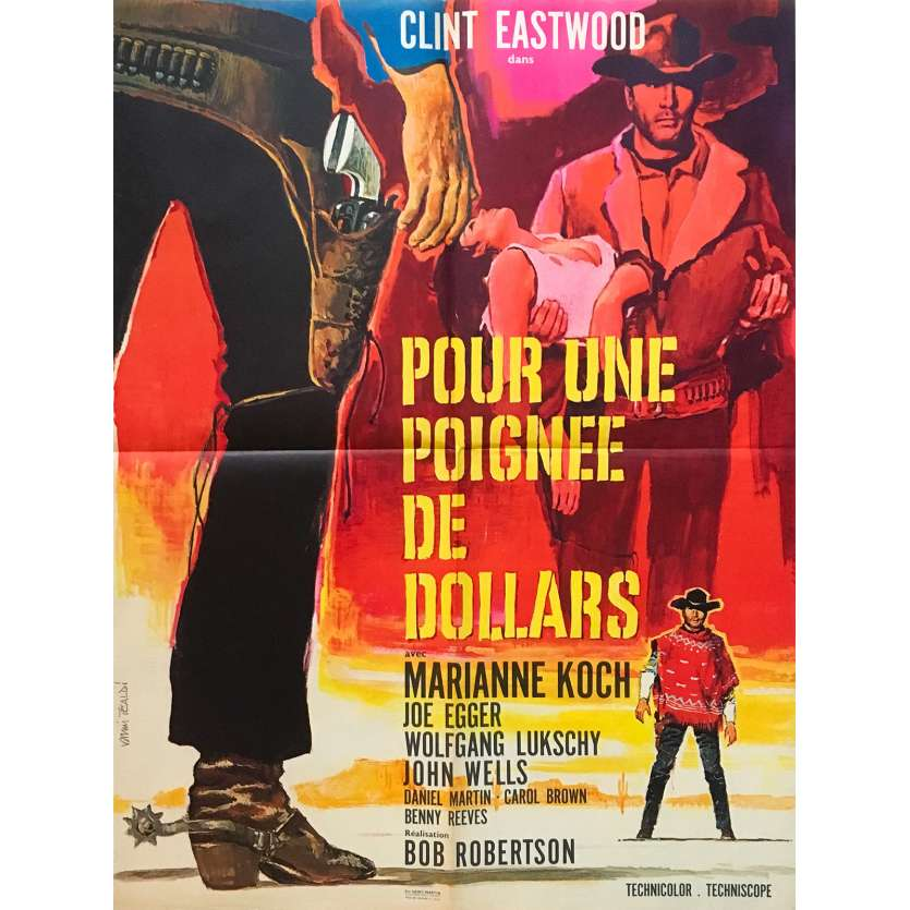 A FISTFUL OF DOLLARS Original Movie Poster - 23x32 in. - 1964 - Sergio Leone, Clint Eastwood